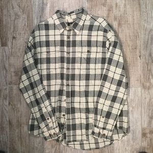 Men's Long Sleeve Flannel Button Up